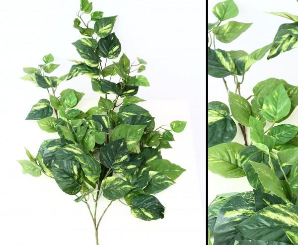 Kunstpflanze Pothosbuschranke mit 100 Blättern, 90cm lang