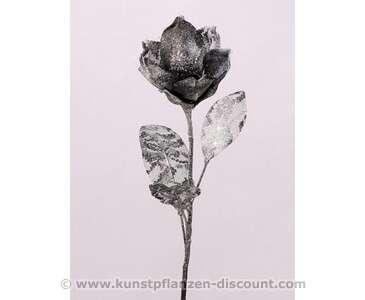 Kunstpflanzen Discount künstliche glitzer blume magnolia silber länge 70cm bestellen