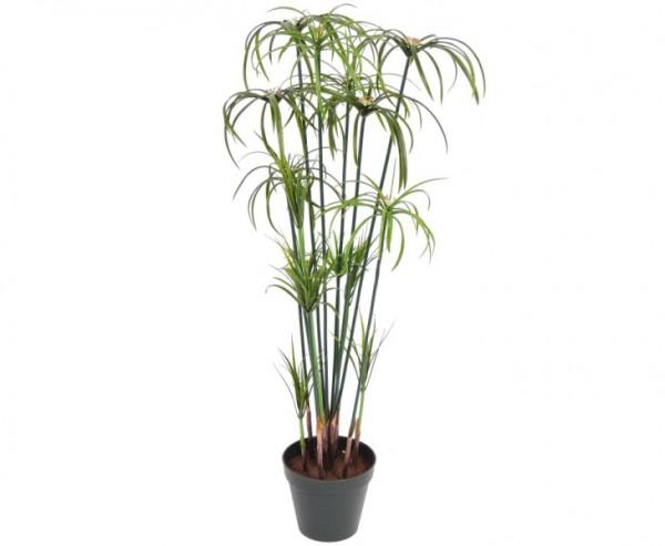 Papyrus Kunstpflanze, 225 Blätter, Höhe ca. 98cm