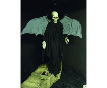 Halloween Figur, Skelett mit Flügel