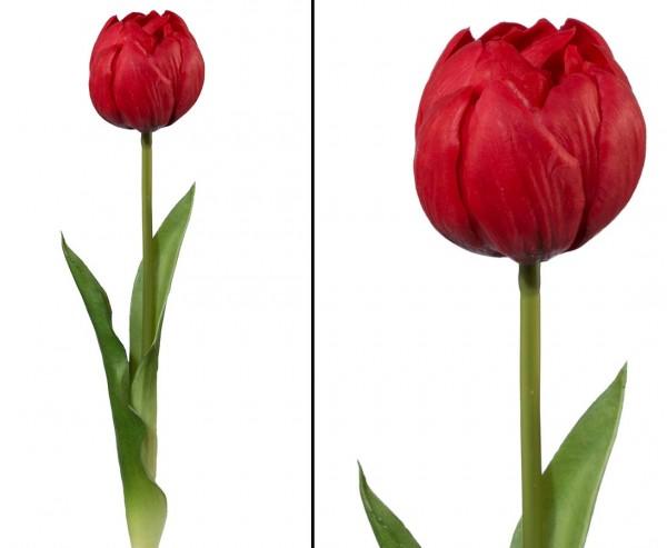 """Künstliche rote Tulpe """"BonnyM"""" gefühlsecht mit 37cm"""