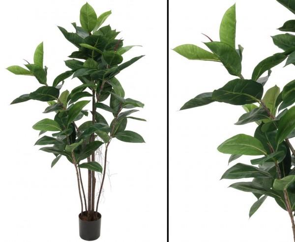 Künstliche Gummibaum Kunstpflanze Höhe ca. 120cm 84 Blätter