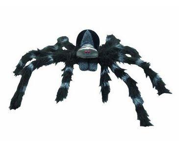 Spinne, mit schwarzem Fell, Durchmesser 60cm