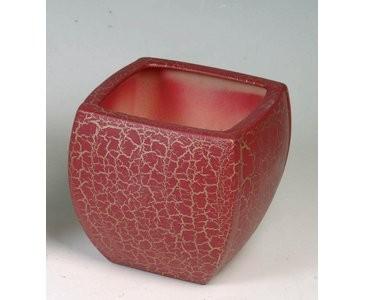Vasen Übertopfe, pink marmoriert, A1 Durch. 14x14cm, Höhe 22,5cm