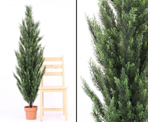 zypresse kunstbaum mit zementfu 170cm online kaufen. Black Bedroom Furniture Sets. Home Design Ideas