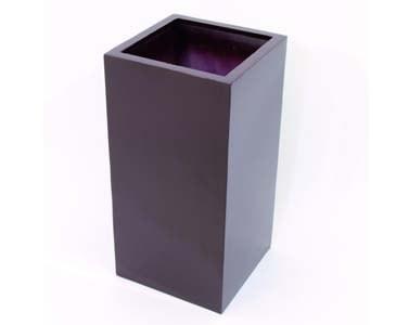 Blumenkübel, aus Kunststoff mit ca. 6,30kg, braun lackiert, Durch. ca. 40cm, Höhe 80cm