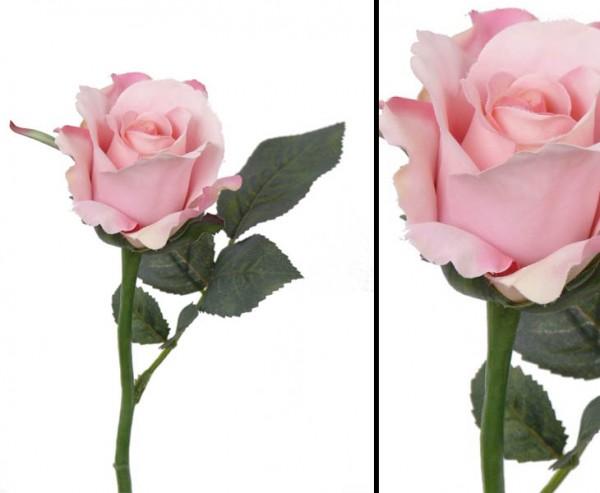 Kunstblume Rose Alice rose farbige Blüte Durch. 8cm, Länge 30cm