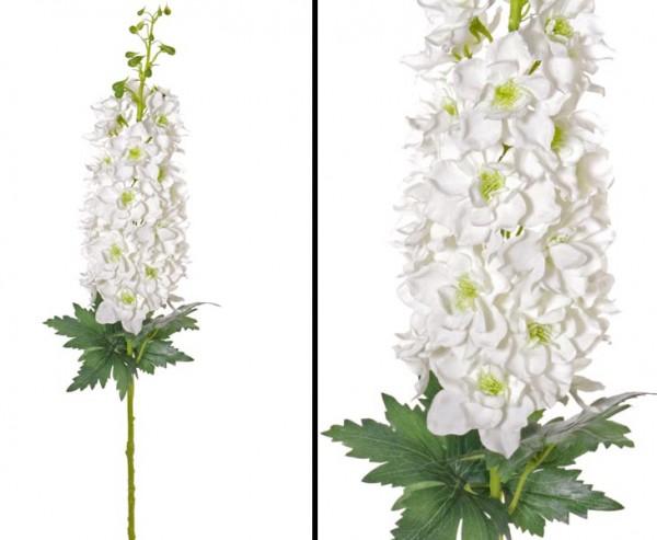 Kunst Blume Rittersporn, weißer Blütenkerze, Länge 95cm