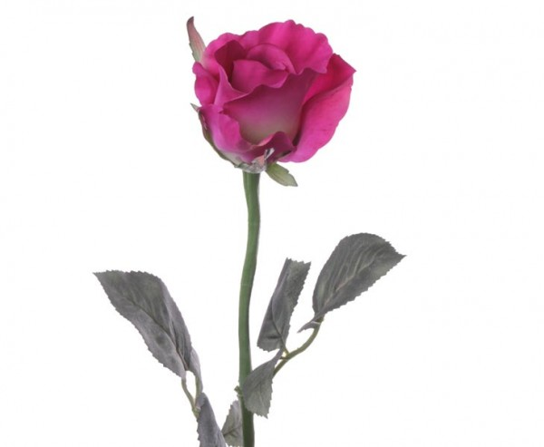 Kunstblume Rose Alice violett farbige Blüte mit einem Durch. von 8cm, Länge 30cm