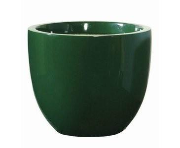 Blumenkübel dunkelgrün, Kunststoff, Frost und UV beständig, A1 Durch. 30cm, Höhe 25cm