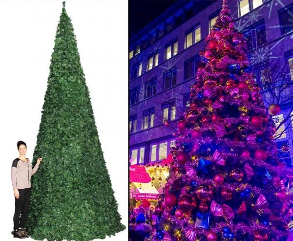 Riesen Christ Baum künstlich 650cm, Ringsystem mit B1 PVC Nadeln