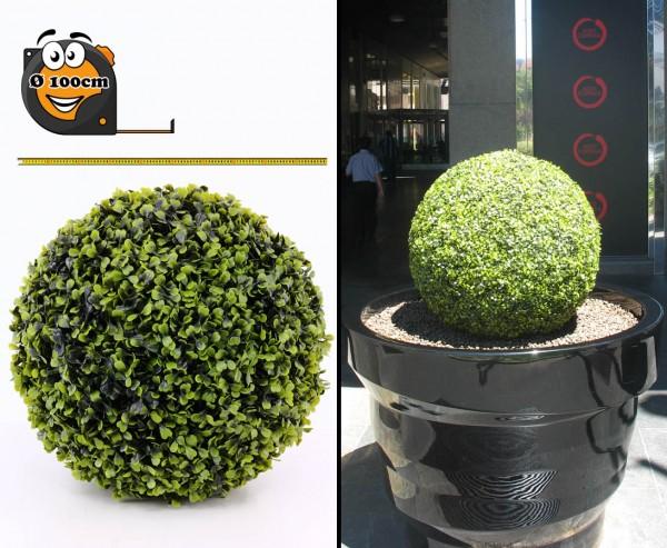 Buchskugel Kunstpflanze mit Ø 100cm UV sicher Kern EPS Masse