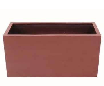 Balkonkasten rot glänzend Abmessungen B: 40cm x L: 100cm x H: 50cm