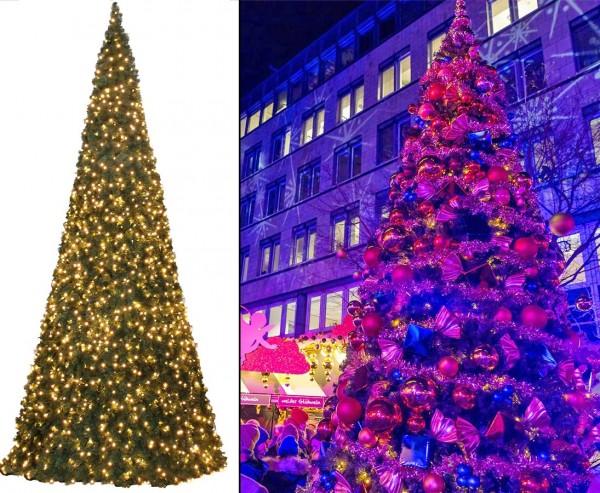 Künstlicher Riesen Christbaum mit 790cm und LED´s, Ringsystem mit B1 Nadeln