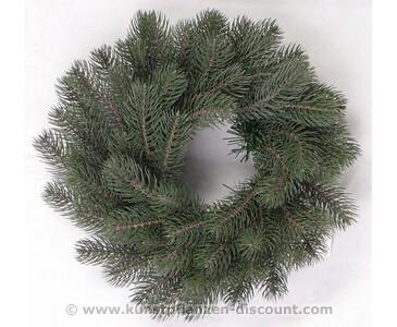 Weihnachtskranz künstlich mit 63 Spritzguss Zweigen, Durch. 40cm