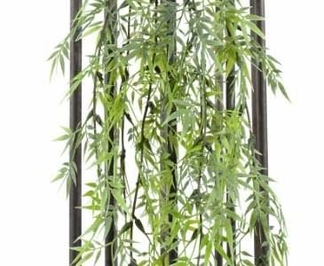 Bambusblatt-Hänger, mit 81 Blätter, Länge ca. 60cm