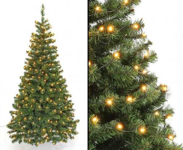 Künstlicher Weihnachtsbaum Georgia grün 210cm mit 288 LEDs, 705 Zweige mit PVC Nadeln B1