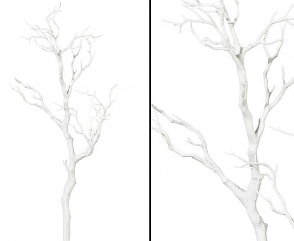 Dekoast weiß mit 73cm aus PE Material