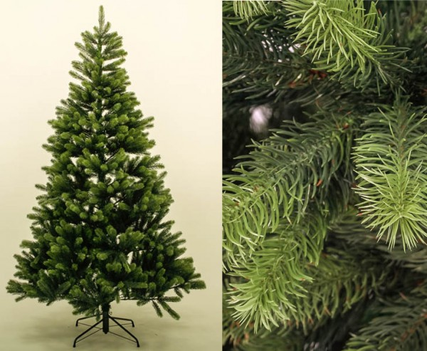 PE Weihnachtsbaum 210cm, 1156 Tips mit Spritzguss Nadeln