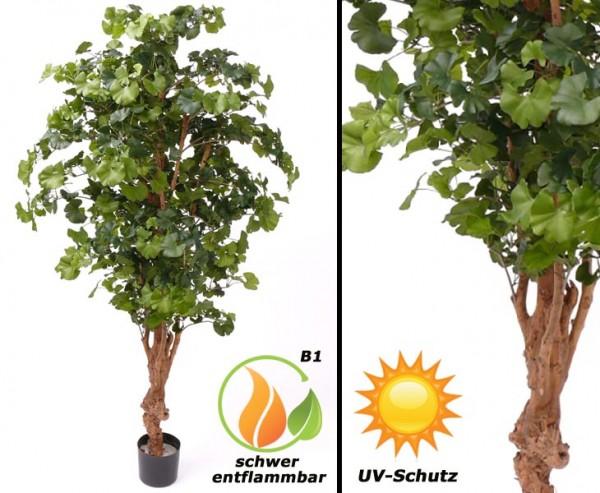 Ginkgo Kunstbaum UV geschützt und schwer entflammbar, 150cm