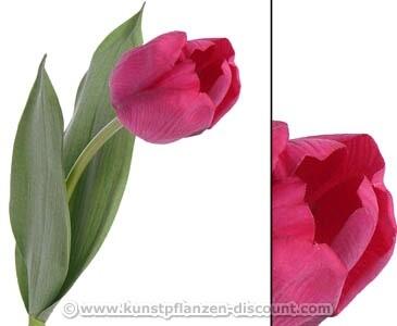 """Kunstblume """"Bonny"""" weinrote Tulpe mit 48cm"""