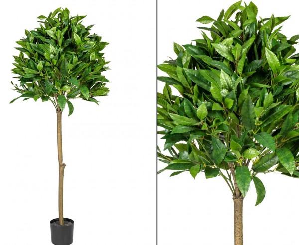Lorbeerkugel Kunstbaum 120cm Textilpflanze mit 539 Blättern