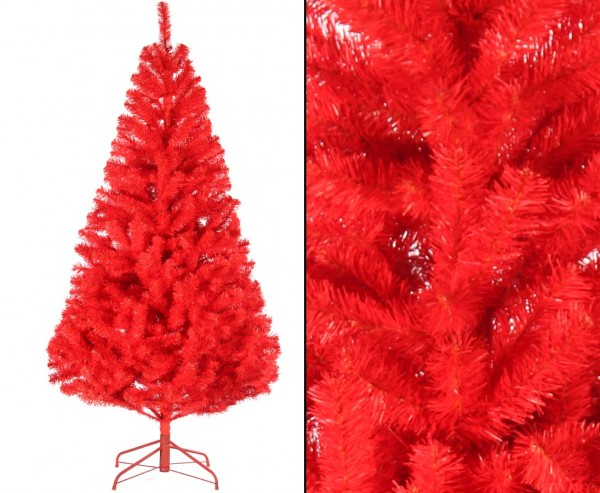 Farbiger Tannenbaum rot 180cm mit PVC Nadeln schwer entflammbar