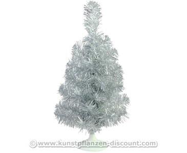 Deko Weihnachtsbaum künstlich silber Höhe 45cm