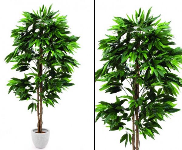 Dschungelbaum Mango Kunstbaum mit Naturstämme Höhe 180cm