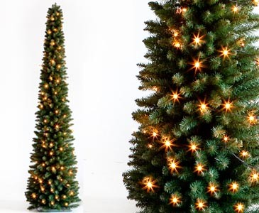Weihnachtsbaum Säule beleuchted mit LED, Höhe 180cm