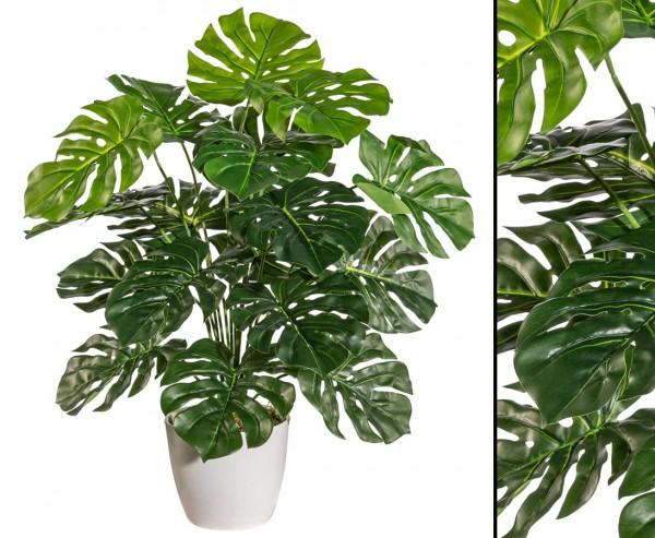 Kunstpflanze Split Philodendron mit 60cm und 18 Blätter im Topf