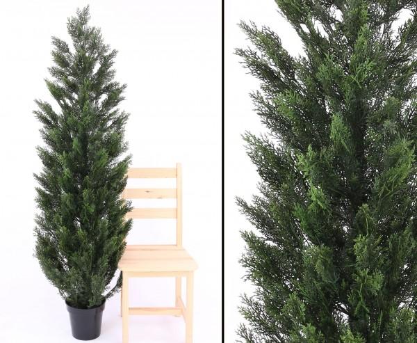 Zypressen Kunstpflanze 180cm mit 180 UV-sicheren Nadelbündeln