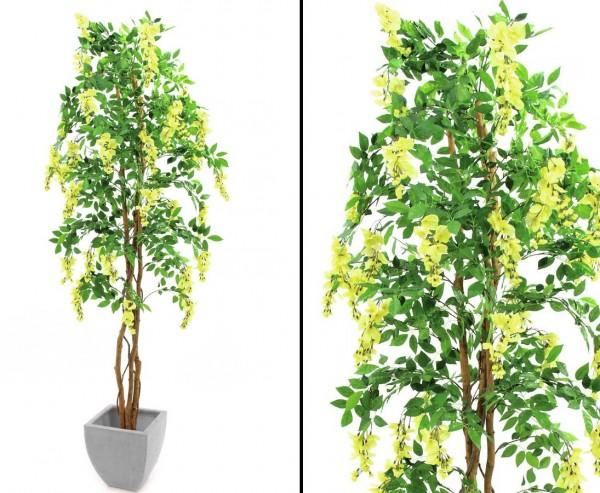 Goldregenbaum künstlich mit 1512 gelben Blüten 2160 Blättern