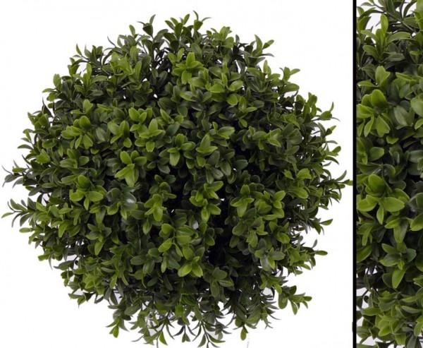 Kunstpflanzen wetterfest Buchskugel mit Holz Kern Durch. ca. 26cm