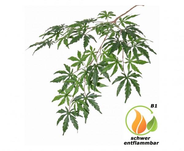 Ahornblattzweig mit 36 Blätter 70cm als schwer entflammbarer Japanzweig