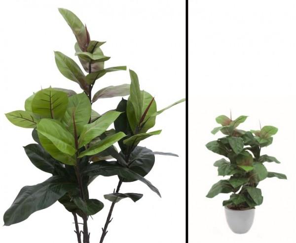 Gummibaum künstlich 43 Blätter Höhe 100cm ohne Topf