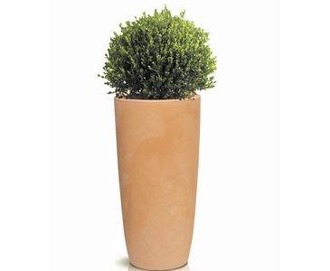 Pflanzkübel aus PP Material Tonfarben, UV und Frost beständig, A1 Durch. 40cm, Höhe 80cm
