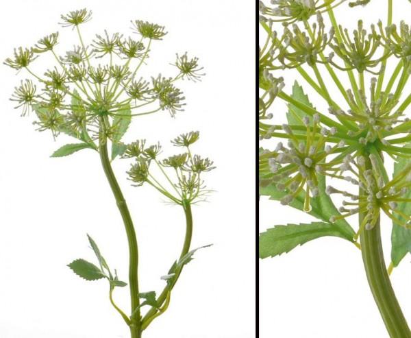 Wiesenkerbel künstlich mit 2 Blüten, Höhe ca. 61cm