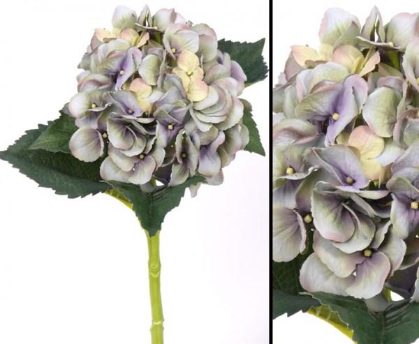 Kunstblume Hortensie, mit hellblauer Blüte Länge 48cm