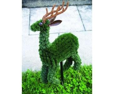 Rentier-Aufsteller, grün, 648 Blätter, 33cm