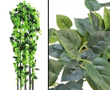 Philobuschranke, Kletterpflanze Classic, 1365 grüne Blätter, Länge 160cm