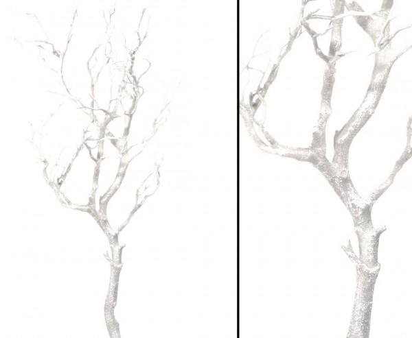 Dekoration Ast weiß mit 97cm aus PE Material