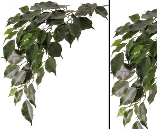 Künstlicher Ficuszweig mit 61 Blätter 77cm lang schwer entflammbar