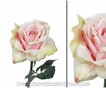 Künstliche Rosen Blume mit mehrfarbiger Blüte, 31cm
