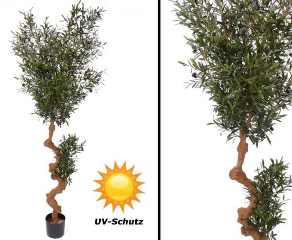 Oliven Kunstbaum für Draußen, 3952 Blätter UV-safe, Höhe ca. 180cm