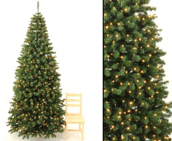 Tannenbaum künstlich Georgia 270cm mit 288 LEDs, 1150 Zweige mit grünen PVC Nadeln B1