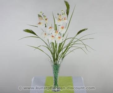 Orchideen Blumenarrangement weiß, Höhe ca. 90cm