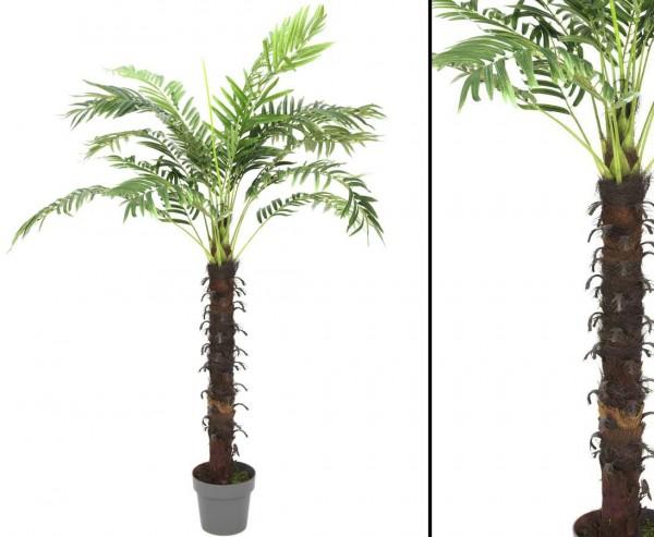 Kunstpalme Kokos mit 18 Wedeln im Topf 160cm hoch