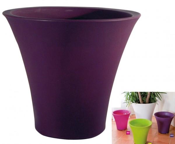 "Übertopf ""Marina"" aubergine farbig PP Material mit 36cm Höhe"
