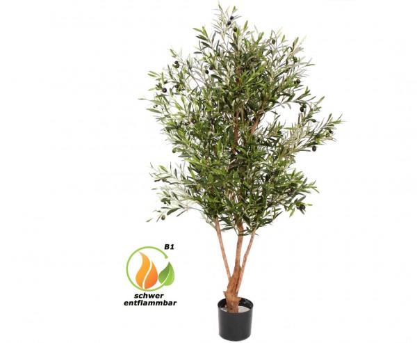 Olivenbaum mit 4160 Blätter und 120 Oliven, B1 schwer entflammbar, Höhe ca. 170cm